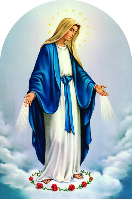 Our Lady of Grace Arched Magnet