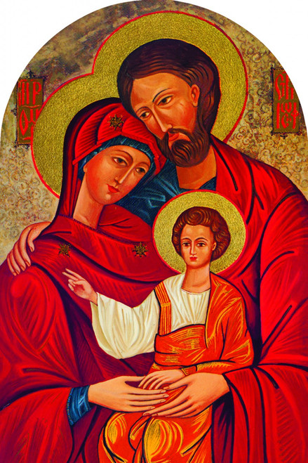 Holy Family Icon Arched Magnet