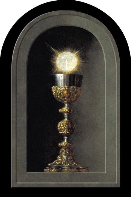 Chalice With Host Arched Magnet II