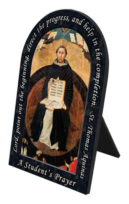 St. Thomas Aquinas Prayer Arched Desk Plaque