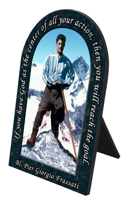 Bl. Pier Giorgio Prayer Arched Desk Plaque