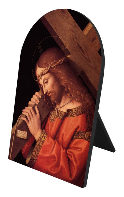 Christ Bearing the Cross Arched Desk Plaque
