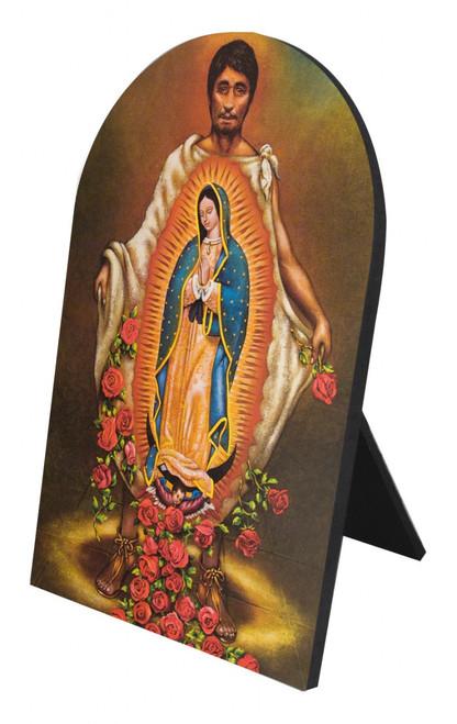 St. Juan Diego Arched Desk Plaque