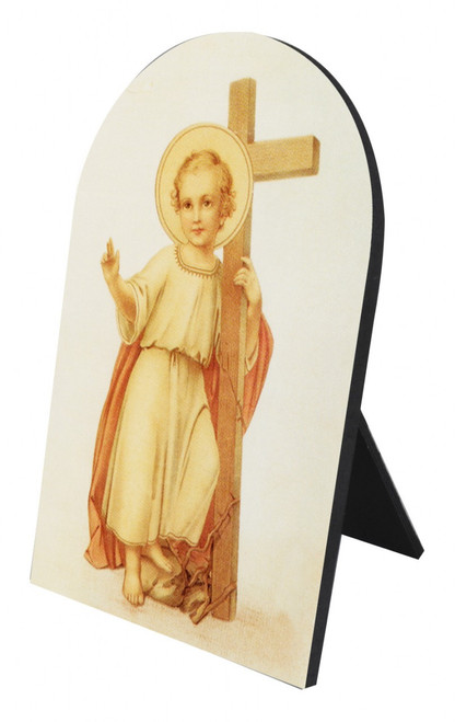 Christ Child with Cross Arched Desk Plaque