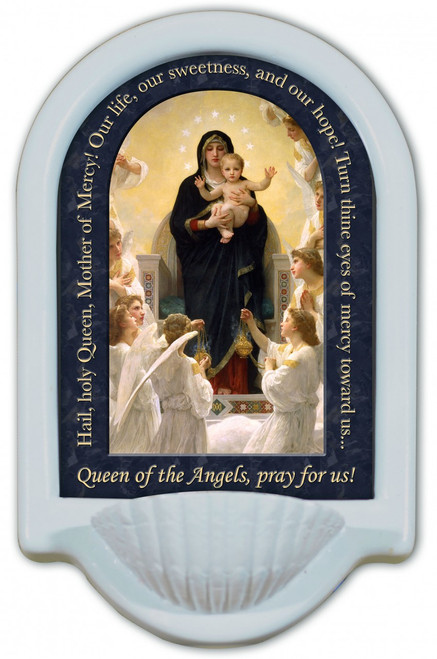 Queen of the Angels Prayer Holy Water Font