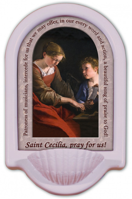 St. Cecilia Prayer Holy Water Font