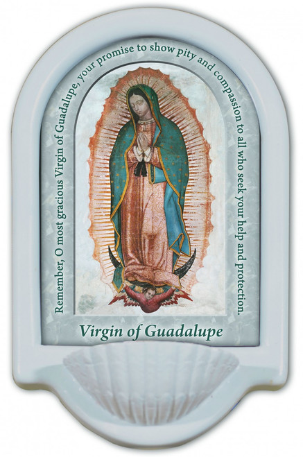 Our Lady of Guadalupe Prayer Holy Water Font