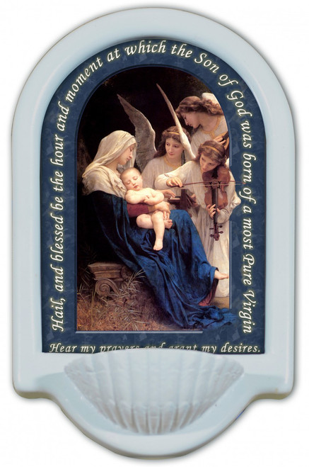 Song of the Angels Prayer Holy Water Font