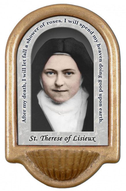 St. Therese of Lisieux Prayer Holy Water Font