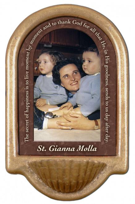 St. Gianna Molla Prayer Holy Water Font