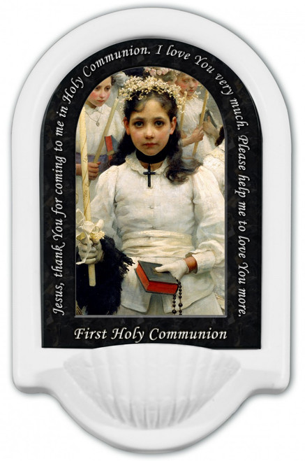 First Holy Communion Prayer Holy Water Font
