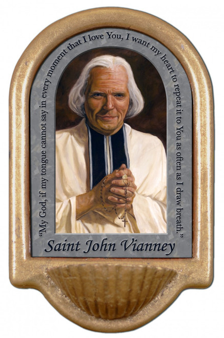 St. John Vianney Prayer Holy Water Font