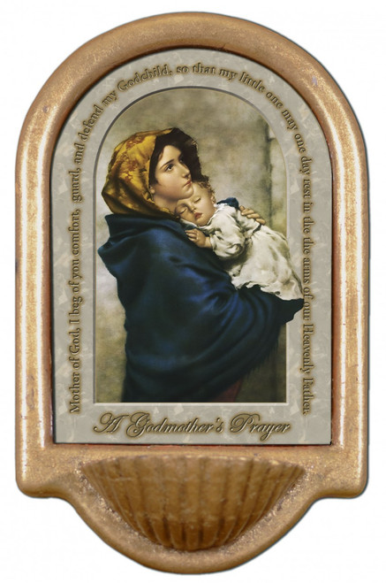 Madonna of the Streets Godmother's Prayer Holy Water Font