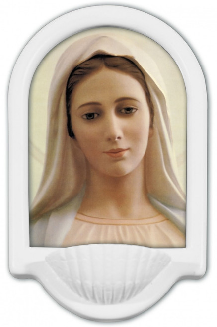 Our Lady of Medjugorje Holy Water Font