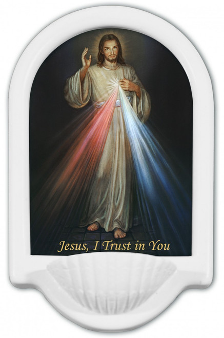 Divine Mercy Jesus I Trust in You Holy Water Font