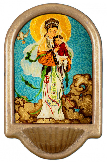 Our Lady of China Holy Water Font
