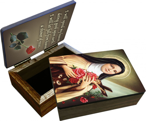 St. Therese of Lisieux Keepsake Box