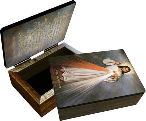 Divine Mercy with Sacred Heart Keepsake Box