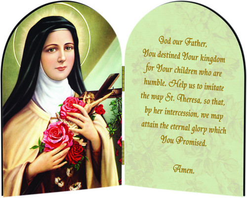 St. Therese of Lisieux Arched Diptych
