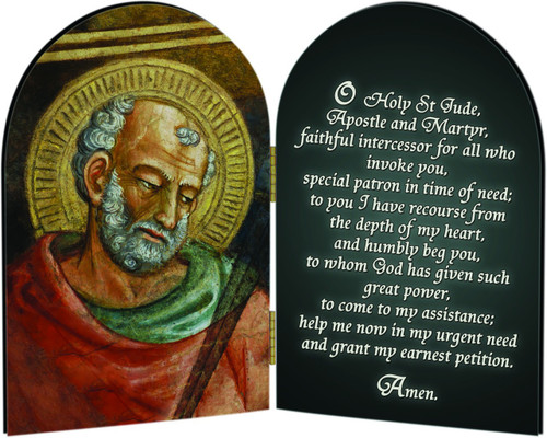 St. Jude Arched Diptych