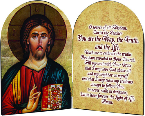 Christ the Teacher Arched Diptych