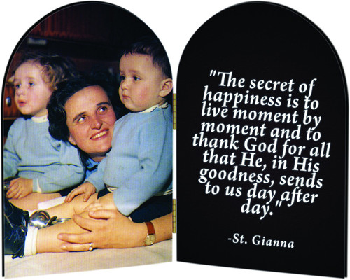 St. Gianna Arched Diptych