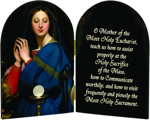 Madonna of the Host Arched Diptych