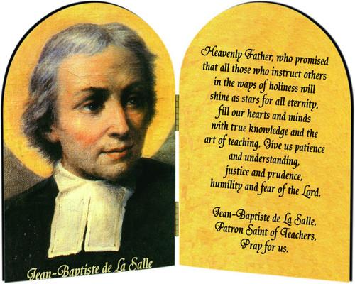 St. Jean Baptiste Teacher's Prayer Arched Diptych