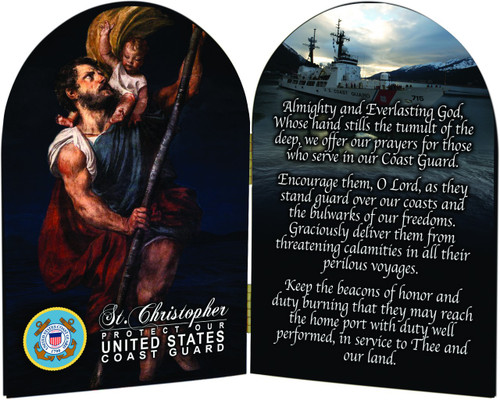 Coast Guard St. Christopher I Arched Diptych