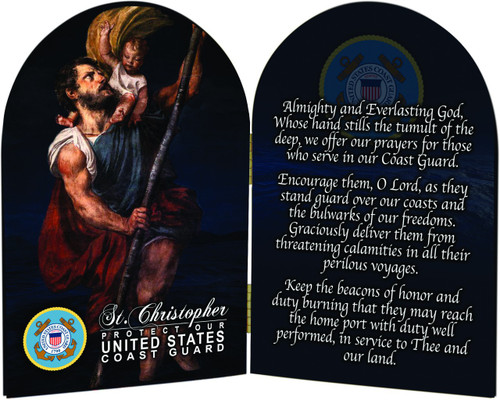 Coast Guard St. Christopher II Arched Diptych