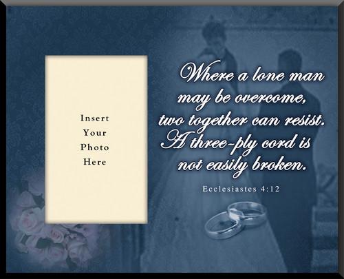 Ecclesiastes 4:12 Wedding Photo Frame