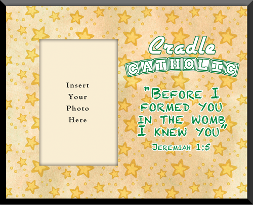 Cradle Catholic Yellow Photo Frame