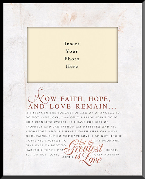 1 Corinthians 13 Vertical Picture Frame (Insert Your Photo)