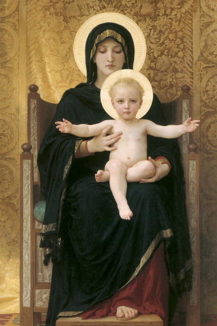 Virgin and Child by Bouguereau Holy Card