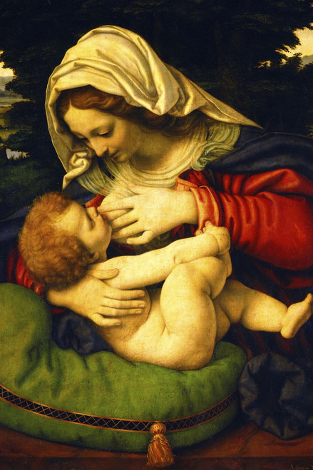 Madonna of the Green Cushion Holy Card