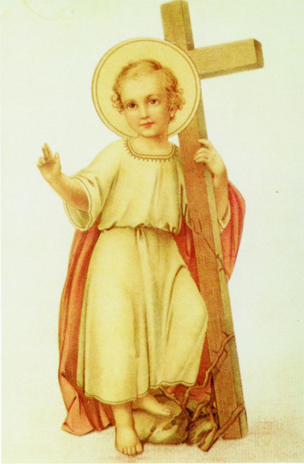 Christ Child With Cross Holy Card