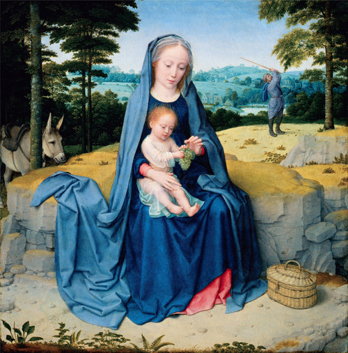 Rest on the Flight into Egypt Holy Card