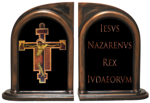 Byzantine Crucifix Bookends