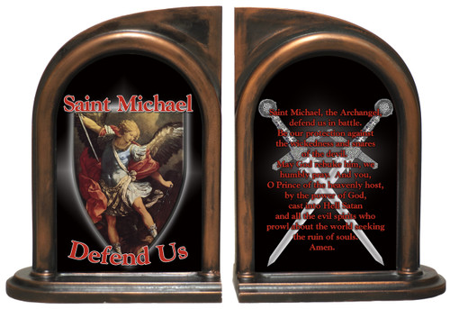 St. Michael Defend Us Bookends
