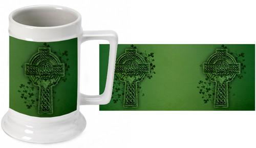Celtic Cross Beer Stein