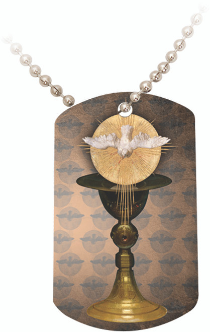 Eucharist with Holy Spirit Dog Tag