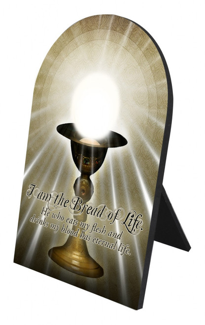 I am the Bread of Life Arched Desk Plaque