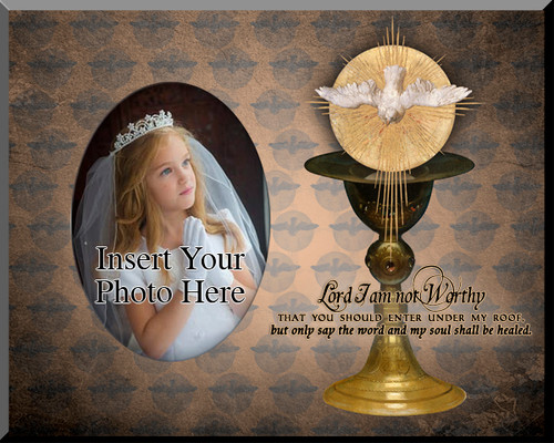Eucharist with Holy Spirit Photo Frame