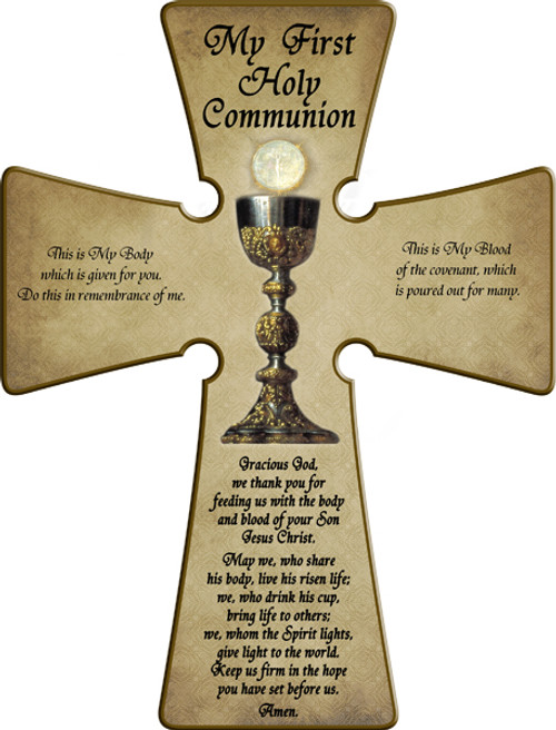 First Communion (Chalice) Wall Cross
