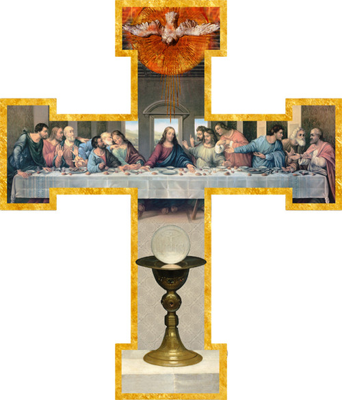 First Communion (Last Supper by Da Vinci Restored) Wall Cross