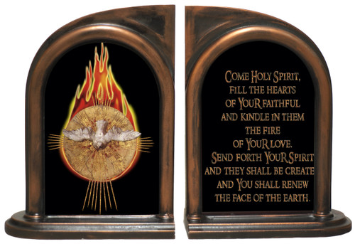 Holy Spirit with Fire Bookends