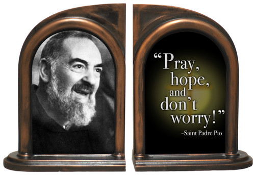 St. Padre Pio Bookends