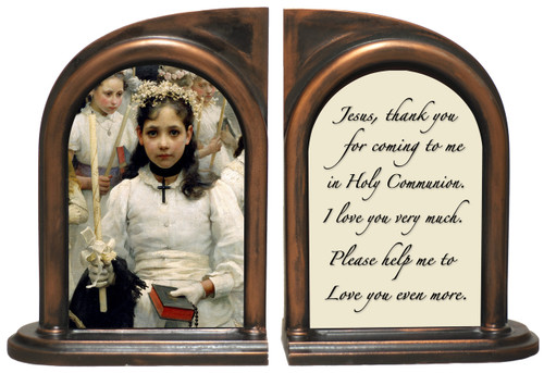 After The First Holy Communion (Detail) Bookends