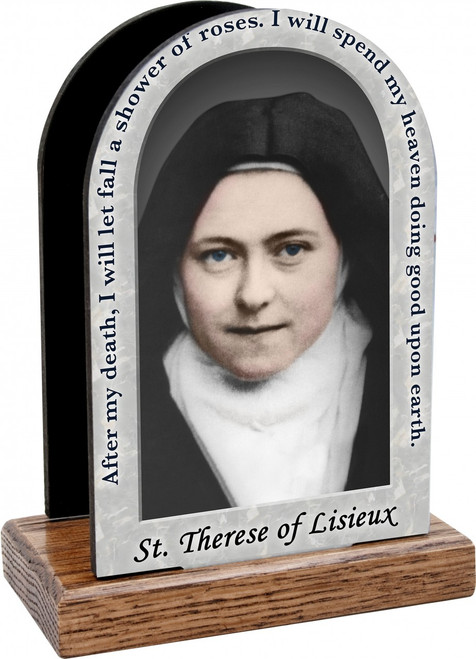 St. Therese of Lisieux Prayer Table Organizer (Vertical)
