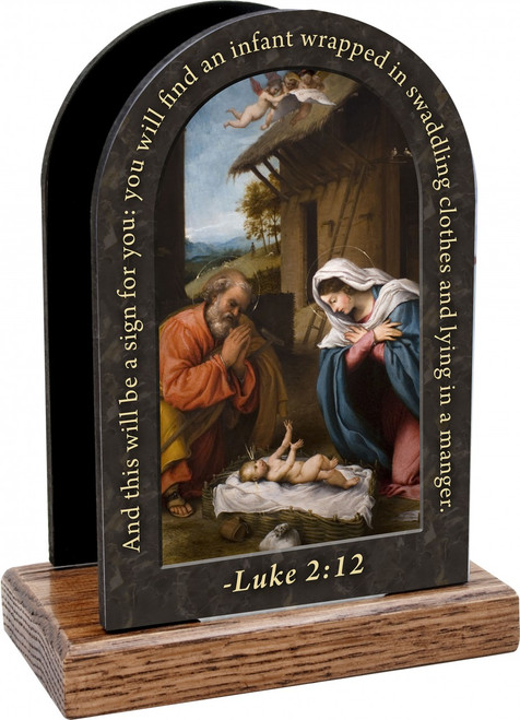 Nativity Prayer Table Organizer (Vertical)